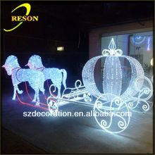 Horse carriage for new year chrismas 3d craft christmas decoration
