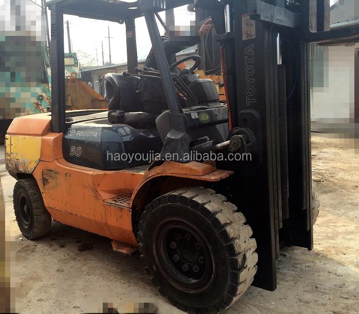 Toyota Forklift For Sale: 5 Tons Toyota Forklift For Sale,Triple Mast Forklift