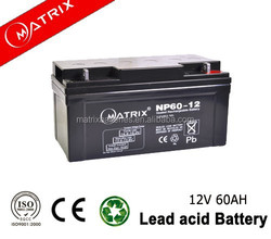 Long life UPS battery 12v 60ah Lead Acid battery manufucturer in China