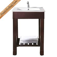 Free standing cheap solid wood corner bathroom cabinet vanity FED-1061