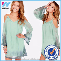 Yihao 2015 Latest Arrival Summer New trendy Women Chiffon Aesthetic Lady Tops Special Design stylish fashion women tops