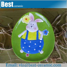 painting rabbit design ceramic easter plates