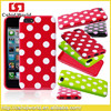 High Quality Colorful Polka Dot Tpu Shell Case For Iphone 5