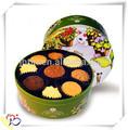 Galletas caja de diseño de envases/cajas de lata de galletas/cookie caja de la lata de alibaba de china mayorista
