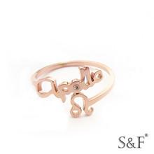 g0614427b Aquamarine unique Rose Gold ring,Fine unique Rose Gold ring
