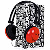 Cheap price bulk headphone in custom printed bag for promotion, MOQ 1000 pcs