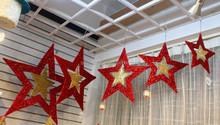 2015 atrium shopping centre star decoration hanging