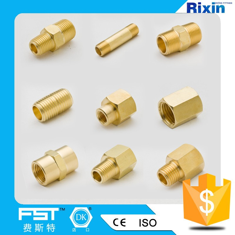 Hex nipple close pipe copper coupling