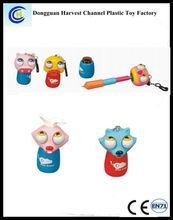 New Design Plastic Extendable ballpoint pen with keychain