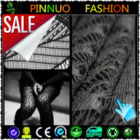2014 fashion black lace fabric dubai for dress
