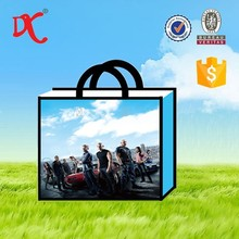 Fast and Furious printing resuable bopp laminated woven shopping bag