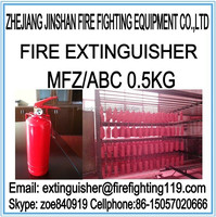 0.5kg ABC dry powder portable car fire extinguisher
