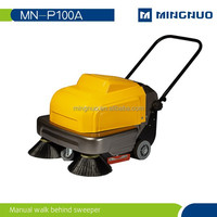 Hand held warehouse cleaning sweeper truck