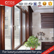 Import china goods to usa aluminum clad wood sliding door