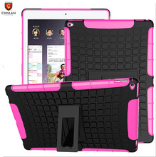 New arrival 2 in 1 shockproof Rugged armor TPU PC hybrid kickstand case for iPad Pro