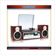 2014 Hot Selling High Quality 3 Speed Turntable Player With CD Recorder & Cassette Player & Radio and USB/SD/CD Converter