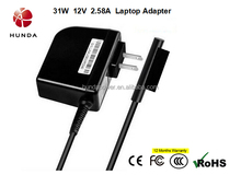 Third Generation 31W 12V 2.58A Laptop Adapter Power Adapter For Microsoft