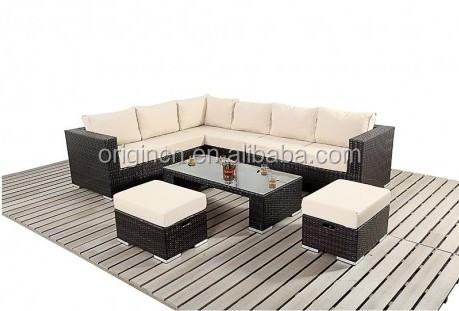 ecke design outdoor indoor modulare ratan weidenmöbel gesetzt sofa, Hause ideen