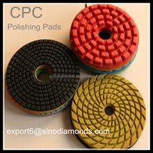 Dry Flexible Diamond resin floor polishing pads for factory price
