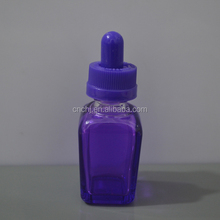 cosmetic frosted colored glass bottle crafts