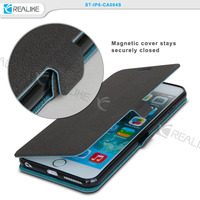 pebble grian pu magnetic closure slim case for iphone 6, toughness tpu well hold your phone