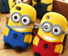 For iphone 5s 3d despicable me cute rubber silicone phone case