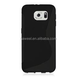 S Line Anti-slip Frosted TPU Protective Case for Samsung Galaxy S6 / for G920(Black)