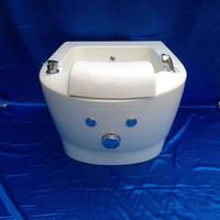 single portable sink/ portable pedicure basin tub in fiber glass for pedicure spa chair