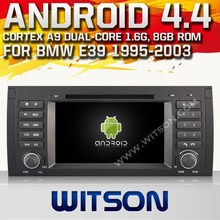 WITSON ANDROID 4.4 for bmw e39 car dvd gps 1080P CAPATIVE TOUCH SCREEN A9 CHIPSET STEERING WHEEL CONTROL SUUPPORT