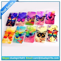 beautiiful TPU cell phone case, soft tpu case with butterfly ,mobile phone case for iphone 6 TPU
