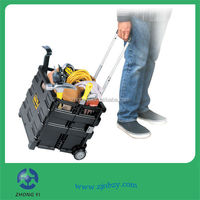 High-quality Elderly Collapsible Plastic Folding Shopping Trolley Cart