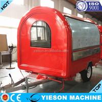 High Quality Fiber Glass coffee van fast food kitchen caravan
