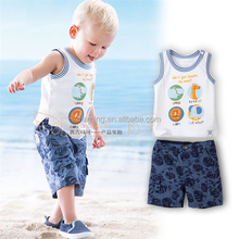 Wholesale baby boy children organic cotton toddler baby clothing