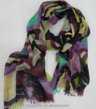 Fashion Comfortable Color ful Geometrical Pattern Printed Scarf For Women