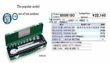 A car tool set famous for a motor vehicle industry of Japan for industrial product