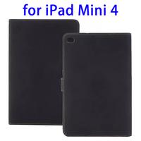 Deluxe Retro Leather Flip Folio Stand Case Cover for iPad Mini 4