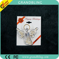 "Rhinestone brooch fancy gift custom jewelry new fashion ""angel "" pin"