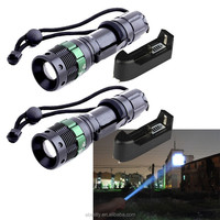 HOT! 2000LM CR EE XM-L T6 LED Zoomable 18650 Flashlight Torch Focus Lamp Ultrafire zoom dimmer led flashlight