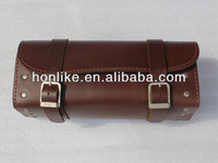 Leather Brown motorcycle saddle bags