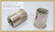 standard fasteners carbon steel reduced head knurled pop nut M12