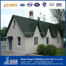 Green color asphalt shingle for roofing