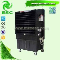household standing portable water air cooler with mobile wheels
