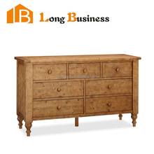 LB-VW5029 Noble distressed solid cherry chest of drawers with mirror