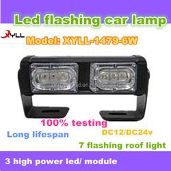 6W car head light bar, 4x4 led warning lights,truck offroad or tractor led indicator Flashing lightbar