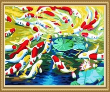 40*50cm new design oil canvas painting, fish oil painting home decor
