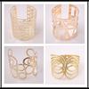 2015 Fashion golden iron metal cuff bangles , bracelet jewelry