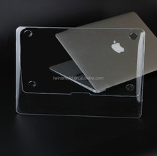 New arrival transparent crystal clear plastic for macbook pro case