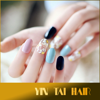 Best selling Art design full cover type acrylic nail tips. artificial false fake nail for wholesale, multi colors fake nails.
