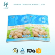 supply food grade high quality plastic frozen food packaging