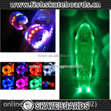 "2015 NEW 22"" PENNI STYLE Can Charge LED LIGHT SKATEBOARD"
